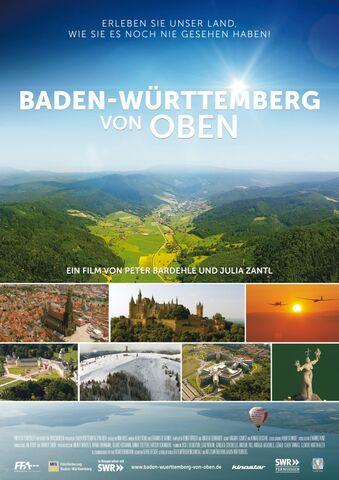 Poster Baden-Württemberg von Oben