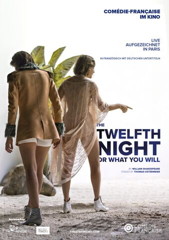 Poster La Comédie-Française:  TWELFTH NIGHT OR WHAT YOU WILL