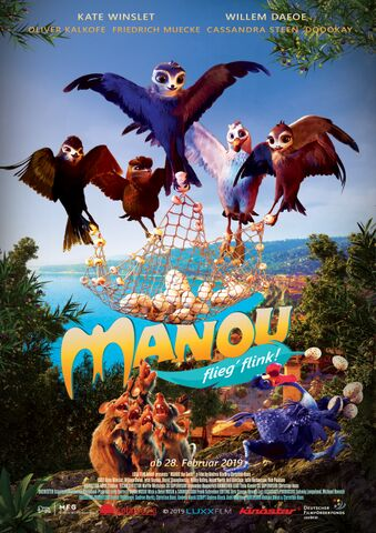 Poster Manou – flieg' flink!